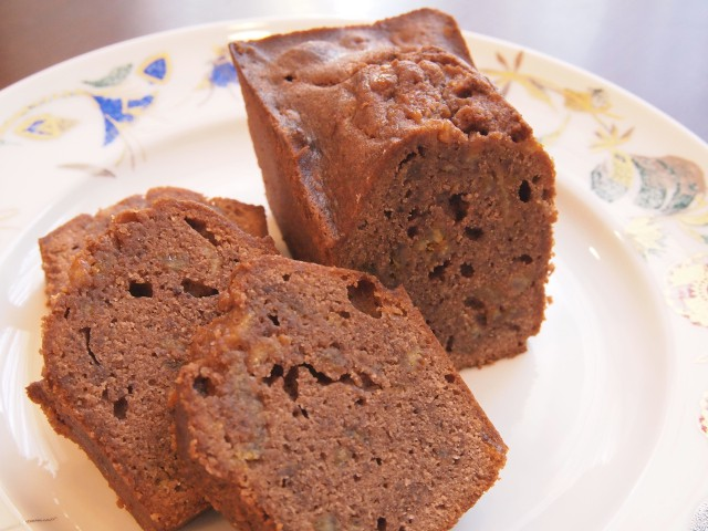 デコポンとチョコレートのパウンドケーキ