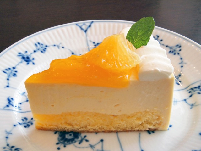 デコポンと甘夏のケーキ